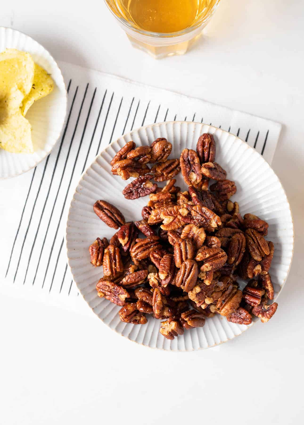 Spicy and Sweet Cocktail Pecans