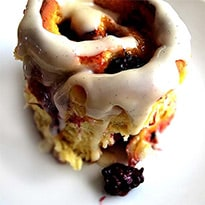 Lemon Blackberry Sticky Buns / Feasts for All Seasons