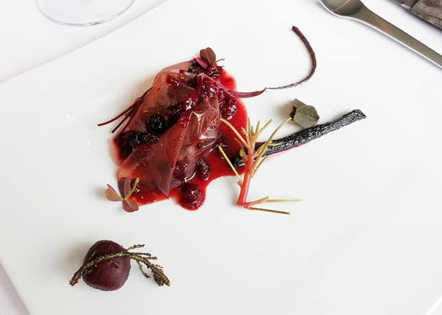 11th course: Deer, beetroot, berries and stems, at Geranium Restaurant, Copenhagen / FoodNouveau.com