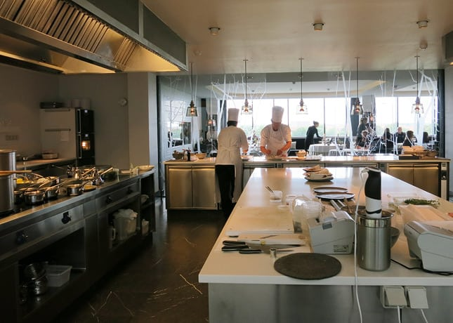 The view from inside the kitchen of Geranium Restaurant, Copenhagen / FoodNouveau.com