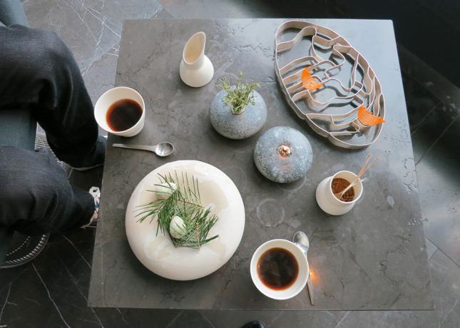 14th course: Mignardises and coffee in the lounge at Geranium Restaurant, Copenhagen / FoodNouveau.com