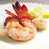 Freshly caught shrimp, Eleonora Baldwin's favorite dish in Positano, Italy. / FoodNouveau.com
