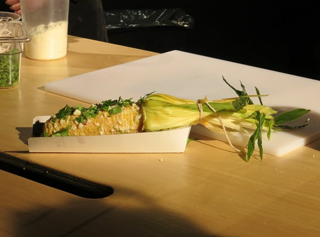 Grumman 78's famous corn on the cob by chef Marc-André Leclerc / FoodNouveau.com