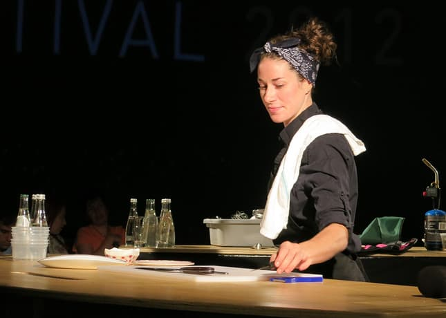 Chef Gita Seaton from restaurant Nouveau Palais at the Omnivore Food Festival, Montreal / FoodNouveau.com