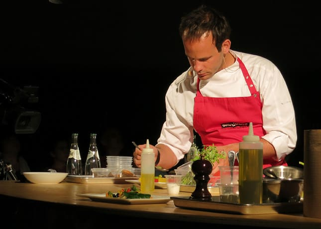 Chef Grégory Marchand from restaurant Frenchie, Paris, at the Omnivore Food Festival, Montreal / FoodNouveau.com