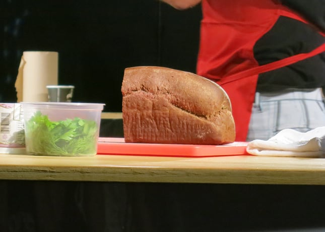 Pastaga's blood bread, at the Omnivore Food Festival, Montreal / FoodNouveau.com