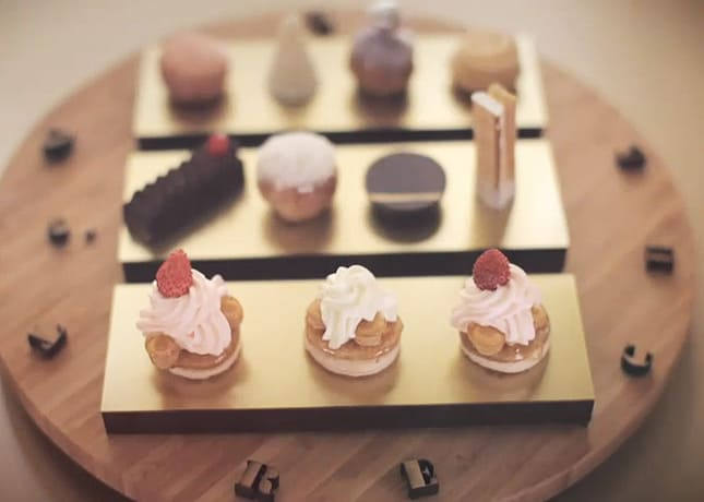 Le Saint-Honoré, a classic Parisian pastry, presented in a stop motion video by Louis Vuitton.