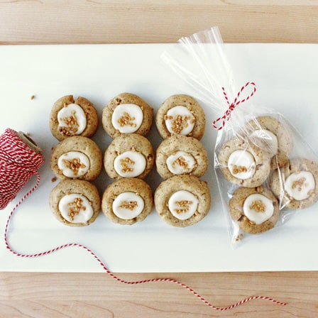 Pecan and Maple Thumbprint Cookies // FoodNouveau.com