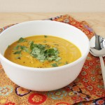 Curried Carrot and Sweet Potato Soup / FoodNouveau.com