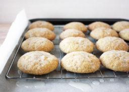 Molasses Cookies with Lemon Glaze