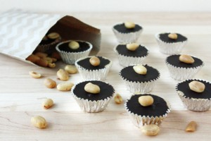 Homemade Peanut Butter Cups with Bourbon // FoodNouveau.com
