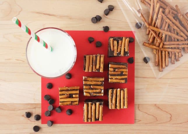 Chocolate Fudge with Walnuts, Cranberries, and Pretzels // FoodNouveau.com