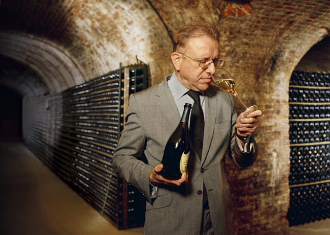 Richard Geoffroy, the Dom Pérignon Cellar Master // Photo by Derek Hudson // FoodNouveau.com