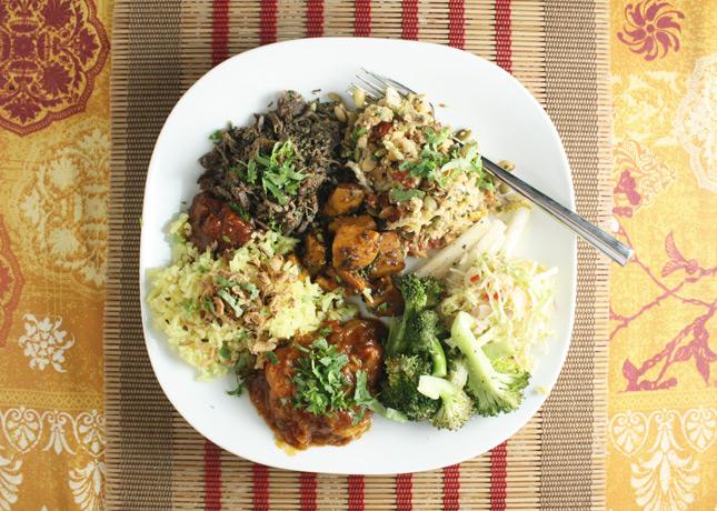 Yummy Burmese leftovers // FoodNouveau.com