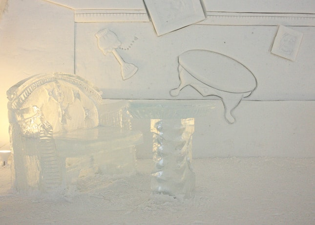Ice Hotel, Quebec City: Ice Furniture // FoodNouveau.com