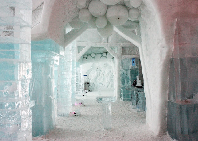 Ice Hotel, Quebec City: Entering the Bar // FoodNouveau.com