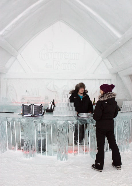 Ice Hotel, Quebec City: The Ice Bar // FoodNouveau.com