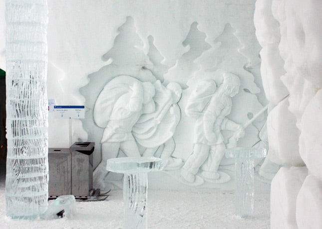 Ice Hotel, Quebec City: A Carved Mural // FoodNouveau.com