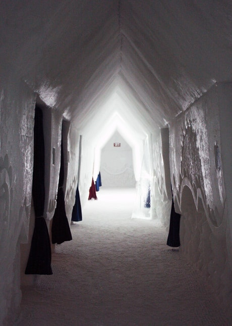 Ice Hotel, Quebec City: Corridor Leading to Guest Rooms // FoodNouveau.com