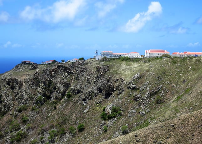 Saba's elementary school sits at the top of a very steep cliff // FoodNouveau.com