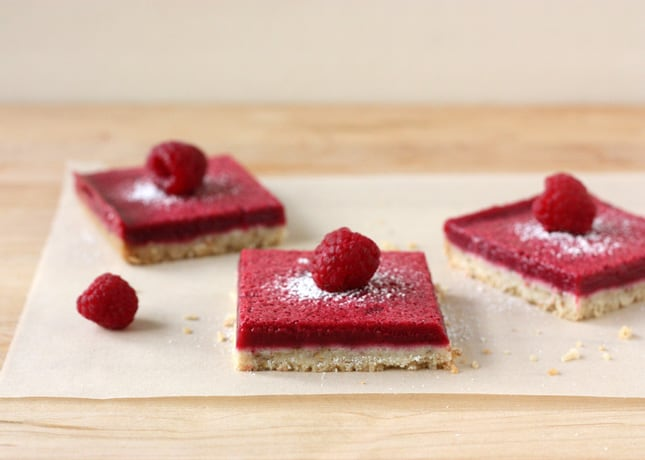 Lighter Fresh Raspberry Squares