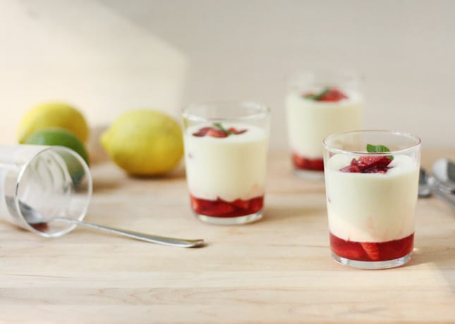 Citrus Mousse with Macerated Strawberries