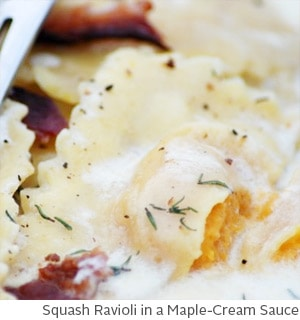 Squash Ravioli in a Maple-Cream Sauce by Amy McCoy // FoodNouveau.com