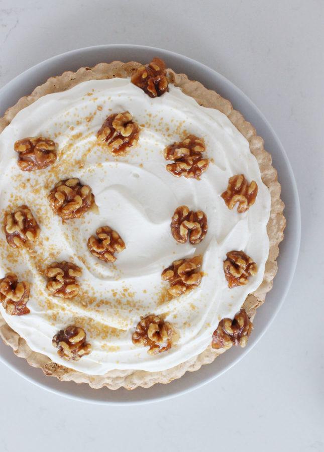 Walnut and Maple Cream Tart // FoodNouveau.com