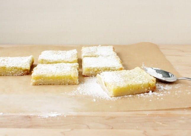 Quick and Easy, Newborn-Friendly Lemon Bars // FoodNouveau.com
