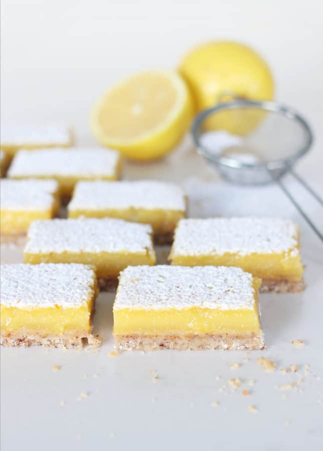 Easy, Dairy-Free Lemon Bars // FoodNouveau.com
