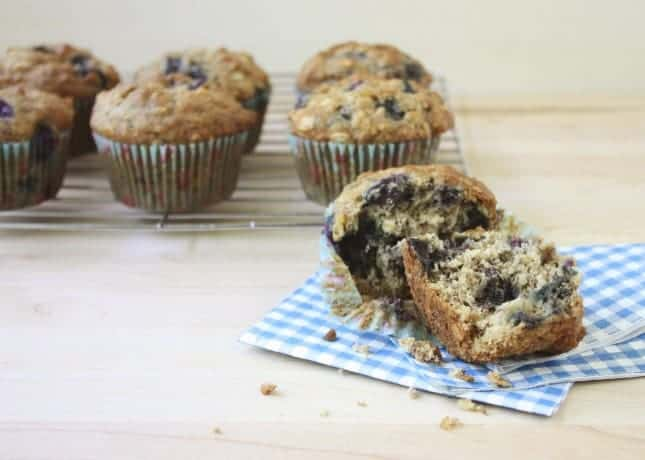 Banana, Blueberry and Ginger Muffins // FoodNouveau.com