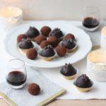 Wild Blueberry and Blackcurrant Cream Truffles // FoodNouveau.com
