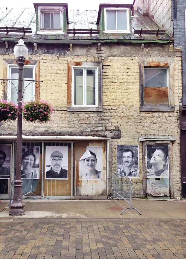 A temporary art installation on Rue Saint-Joseph, in the Saint-Roch neighborhood of Quebec City // FoodNouveau.com