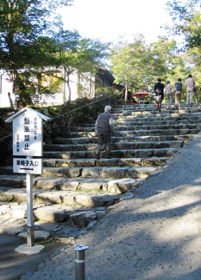 Steps leading to Senzen-in Temple, Ohara, Japan // FoodNouveau.com