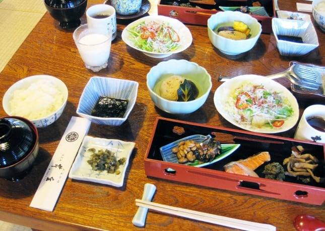 Breakfast at Seryo, a ryokan (Japanese inn) in the Ohara region of Japan, an hour north of Kyoto. // FoodNouveau.com