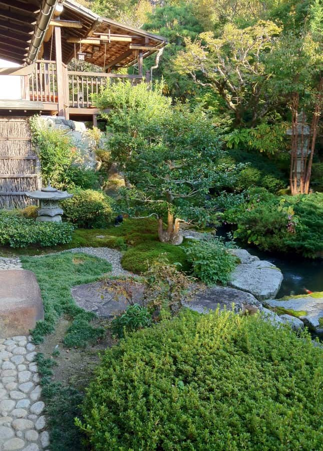 The garden of Seryo, a ryokan (Japanese inn) in the Ohara region of Japan, an hour north of Kyoto. // FoodNouveau.com