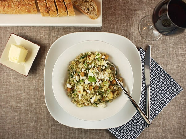 Warm Roast Cauliflower, Chickpea and Quinoa Salad // FoodNouveau.com