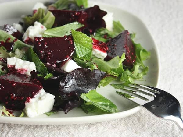 Roasted Beet, Mint and Feta Salad // FoodNouveau.com