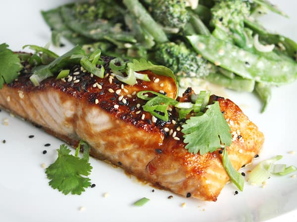 Broiled Salmon with Miso Glaze // FoodNouveau.com