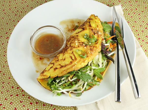 Vegetarian Vietnamese Pancakes - Food Nouveau