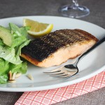 Crisp Salmon with Avocado Salad // FoodNouveau.com