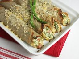 Asparagus, Ham and Ricotta Baked Crêpes