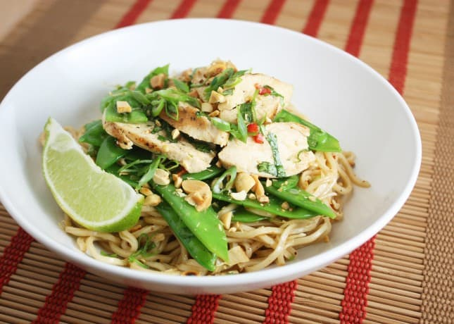 Thai Chicken Salad with Sesame Noodles // FoodNouveau.com