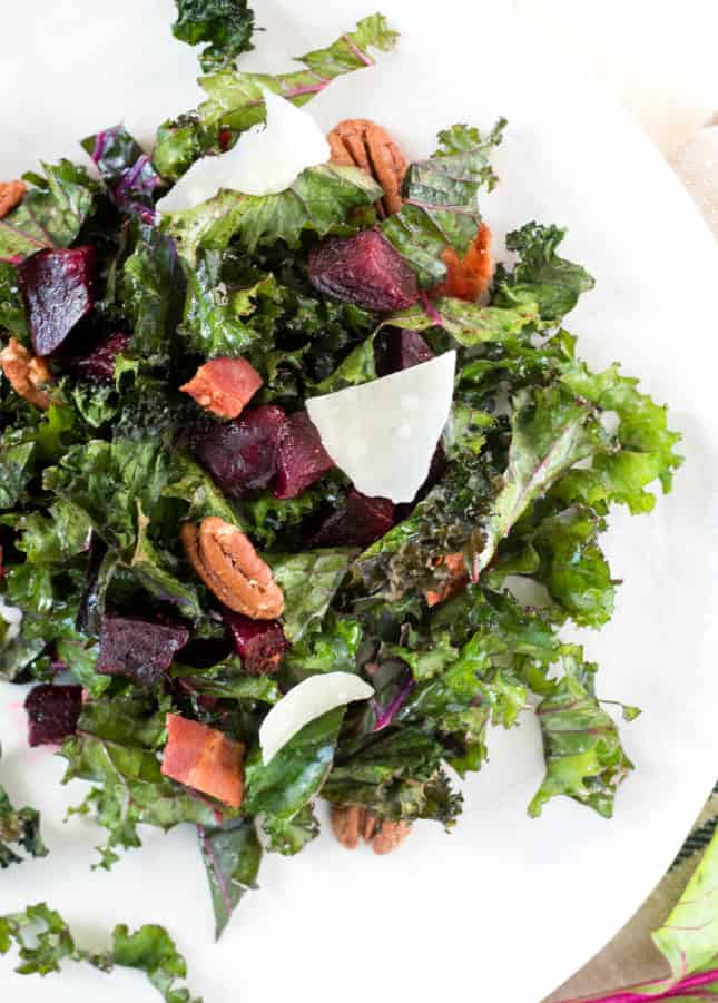 Pecan, Kale, and Beet Salad // FoodNouveau.com