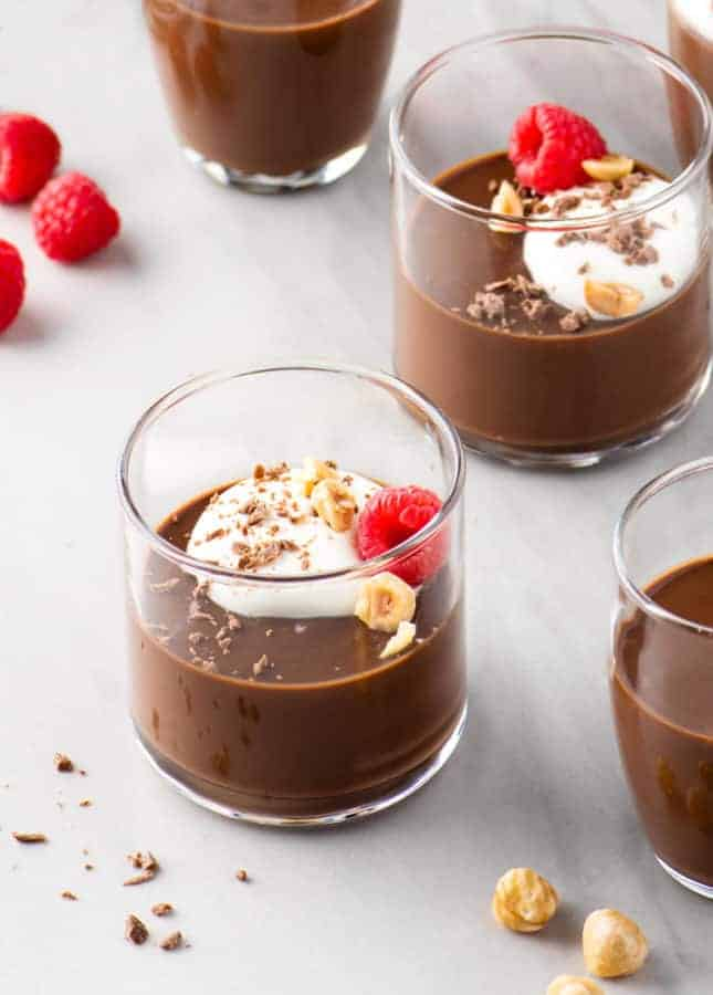 Chocolate and Hazelnut Pots de Crème // FoodNouveau.com