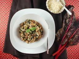 Sausage Risotto with Swiss Chard