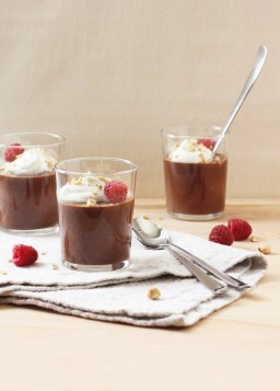 Chocolate and Hazelnut Pots de Crème