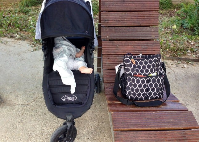 A stroller ensures comfy baby naps while visiting Paris // FoodNouveau.com
