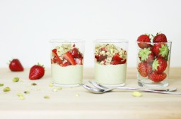 Pistachio and Strawberry Verrines