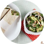 Zucchini, Chicken & Pecan Salad Wraps // FoodNouveau.com